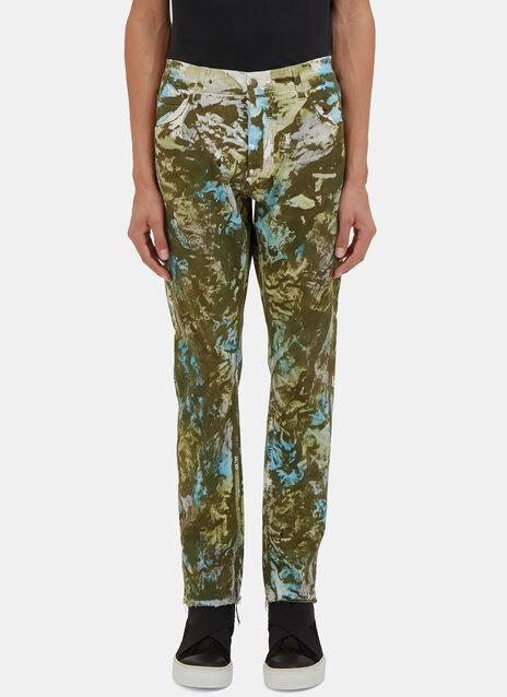 Camo Print Slim Leg Jeans