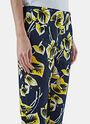 Floral Print Slim Leg Pants