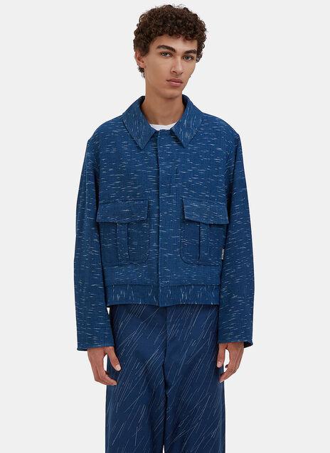 Beau Canvas Rain Ikat Jacket