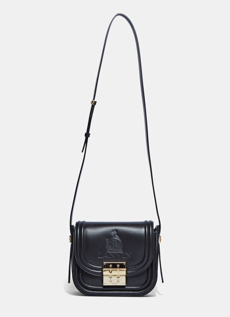 LaLa Embossed Logo Small Satchel Bag