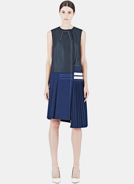 Sleeveless Pleated Kilt Dress