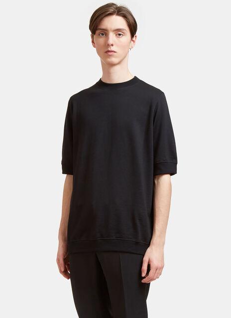 Short Sleeved Wool Sweatshirt