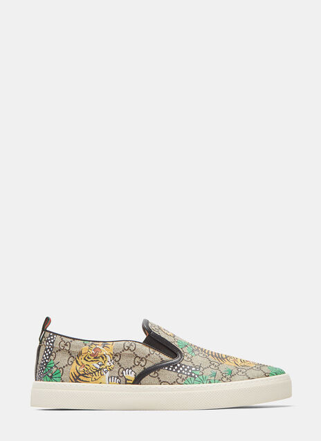 GG Bengal Tiger Jacquard Slip-On Sneakers