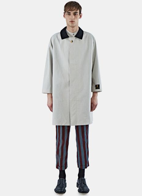 Woven Mid-Length Rain Coat