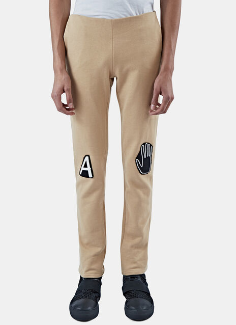 Slim Jersey Patch Pants