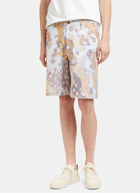 Allan Faded Print Shorts