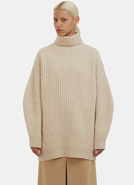 Isa Oversized Roll Neck Chunky Knit Sweater