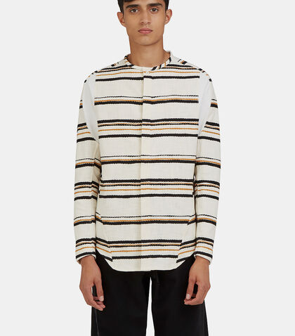 Arc Bdu Long Sleeved Striped Shirt