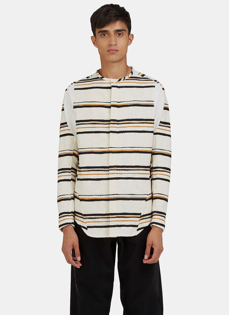 Arc Bdu Long Sleeved Striped Shirt