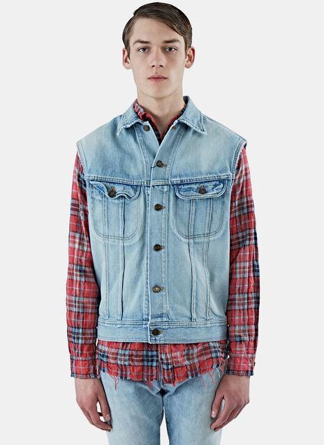 Oversized Sleeveless Denim Jacket