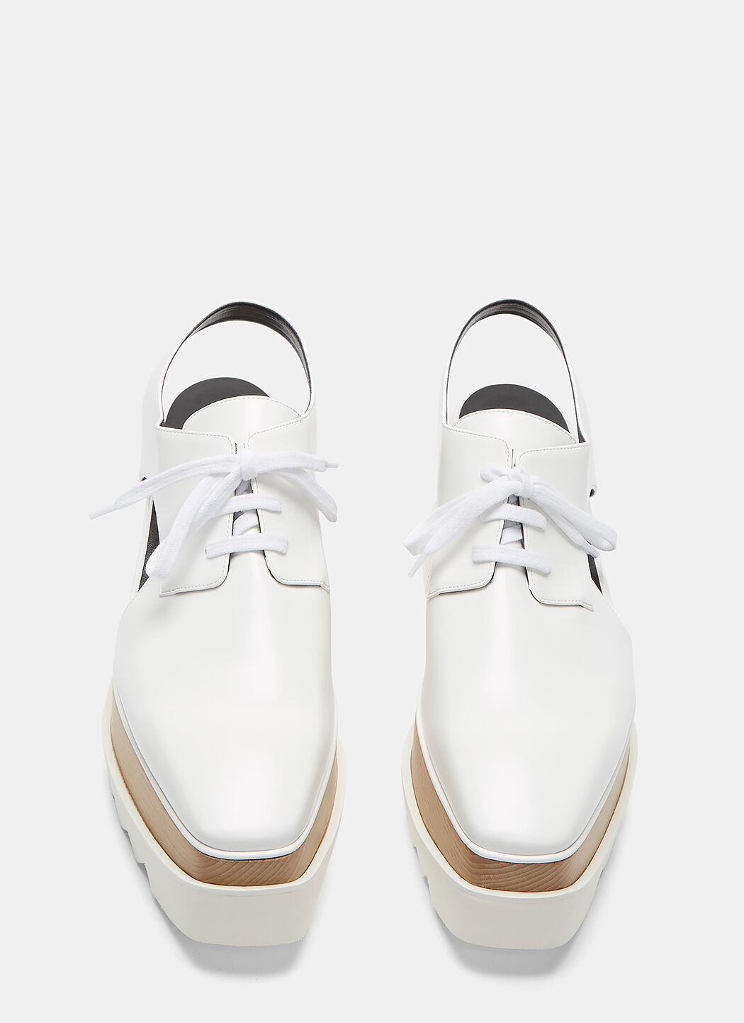 stella mccartney white elyse cut out shoes
