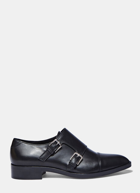 Buckled Leather Dress Shoes