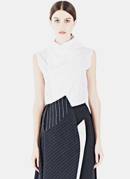 Image of Aganovich Sleeveless Poplin Shirt