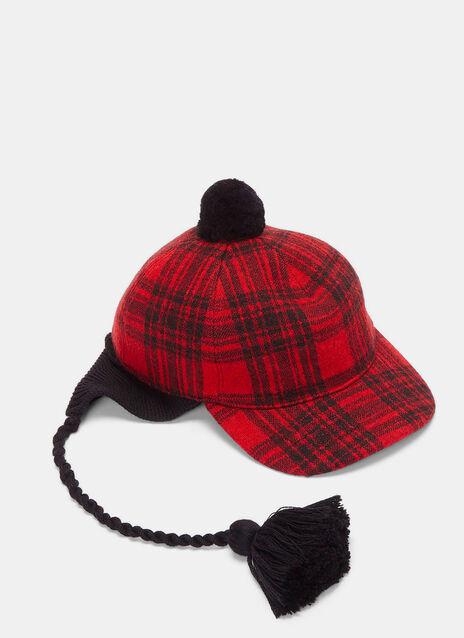 Peruviano Tartan Ear Flap Tasselled Cap