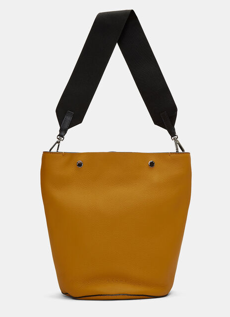 Small Grained Leather Bucket Bag
