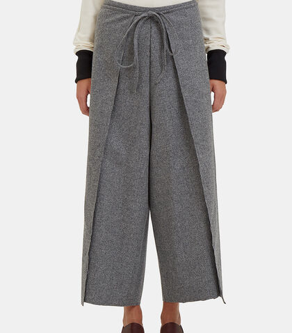 Wide Leg Wrap-Around Pants