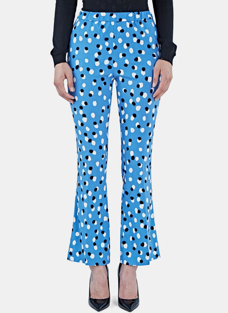 Ross Polka Dot Fil Coupé Flared Pants