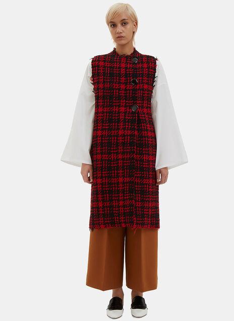 Oversized Tweed Gilet