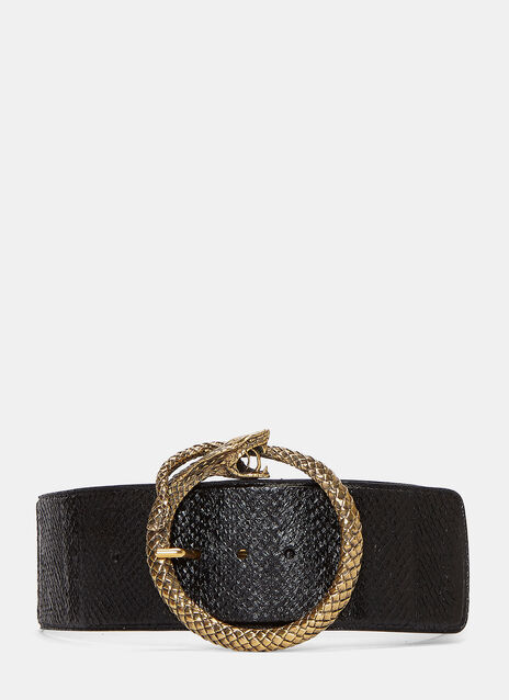 Serpent Buckle Salmon Skin Belt