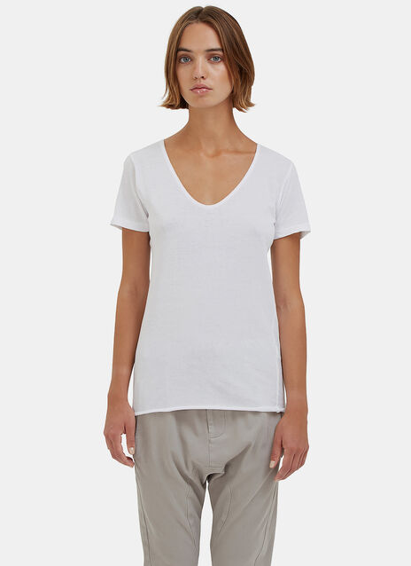 Bassike Scoop V Neck T.Shirt