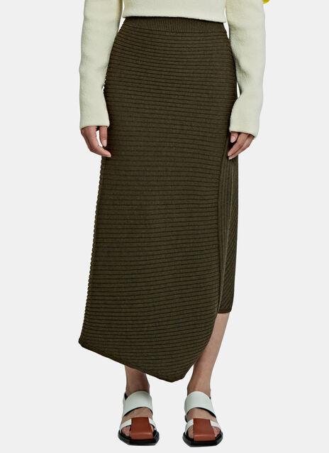Infinity Asymmetric Ribbed Skirt
