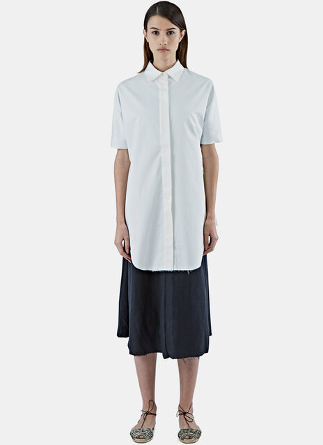 Long Pleated Back Shirt
