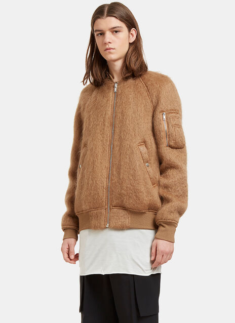 Mohair Knit Bomber Jacket