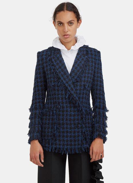Tweed Double-Breasted Blazer Jacket