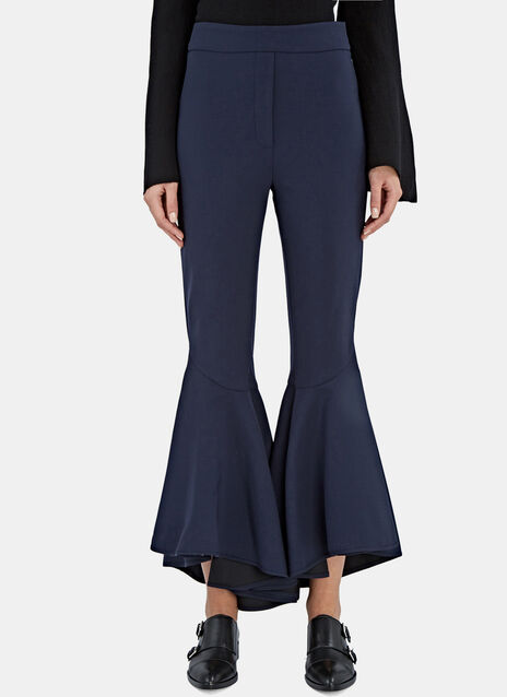 Sinuous Cropped Flare Pants