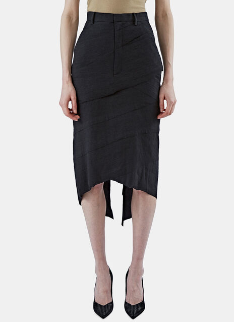 Asymmetric Layered Pencil Skirt