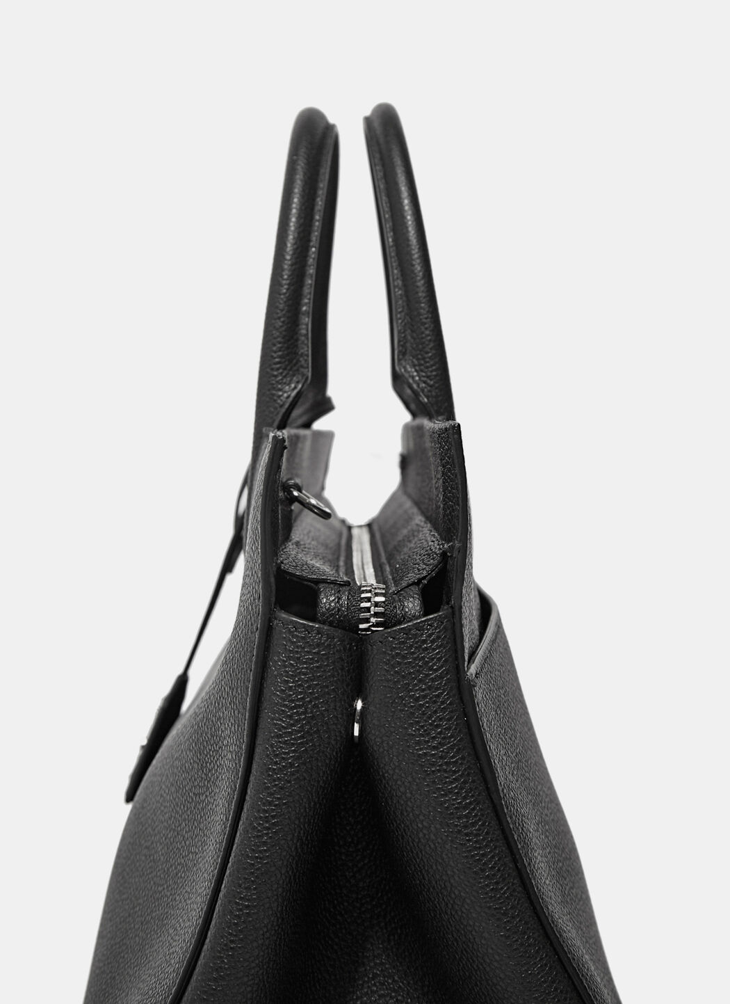 SAINT LAURENT Small Monogram Cabas Bag In Black Leather