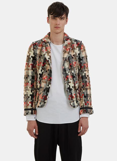 Multicolour Tweed Blazer Jacket