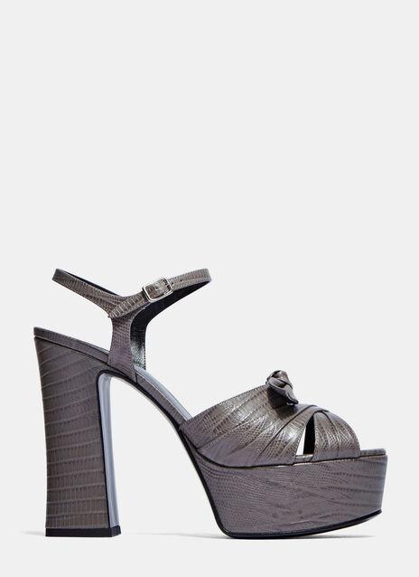 Candy Faux Crocodile Platform Sandals