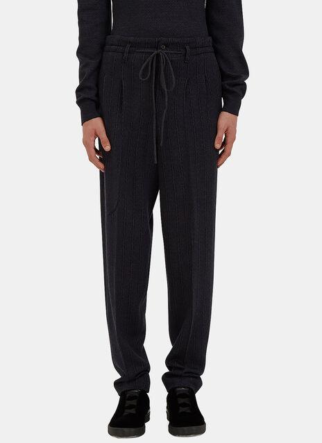 Wide Leg Drawstring Knit Pants