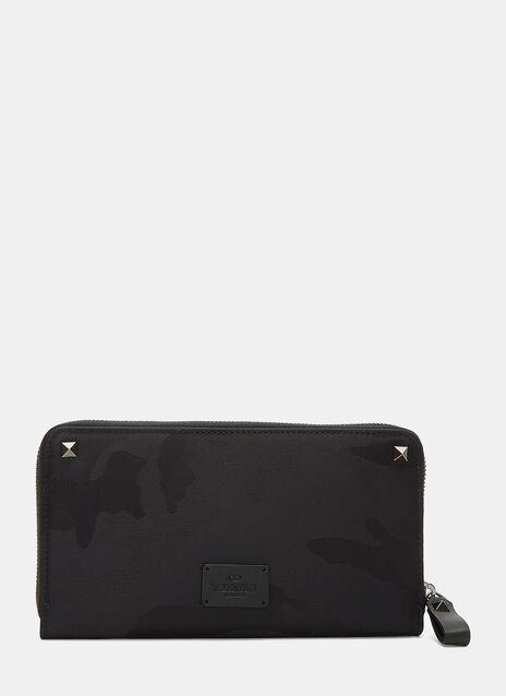 Camouflage Rectangular Zip Around Wallet