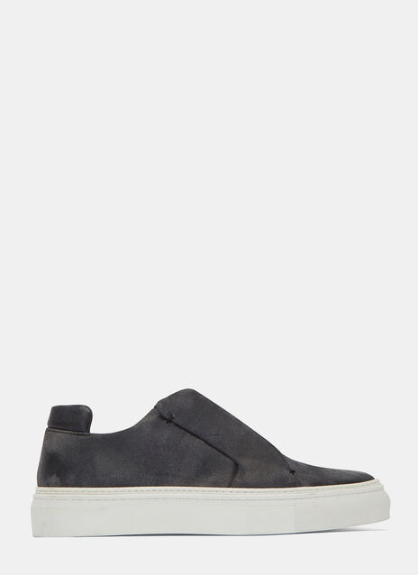 Worn Suede Low-Top Sneakers