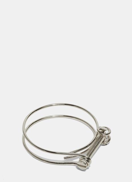 Rhodium Screw Bracelet