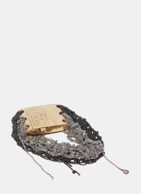 Split Band Square Clasp Bracelet