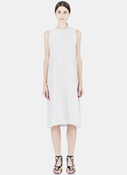 Image of Alexa Stark Silk Pleated Dress