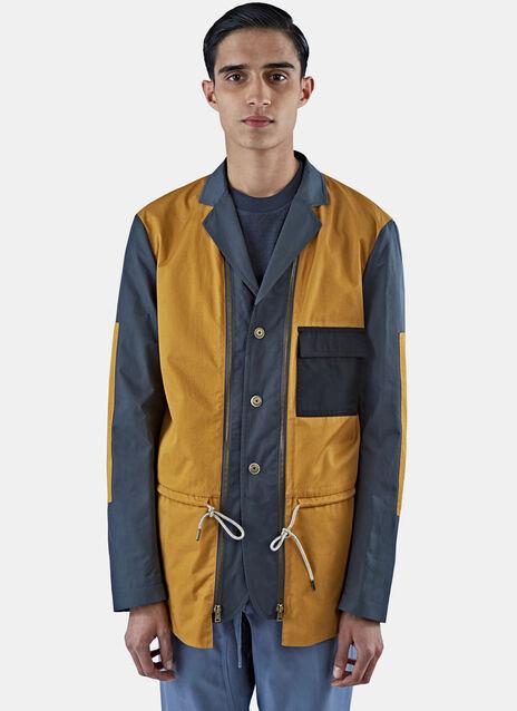 Technical Poplin Patchwork Jacket