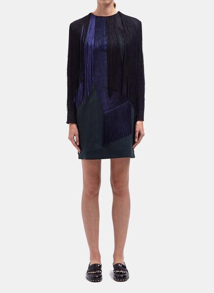 Lanvin Womens Fringe Dress