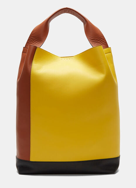 Leather Pod Tote Bag