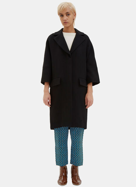 Oversized Double-Faced Crepe Coat