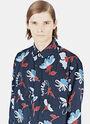 Classic Floral Print Silk Shirt