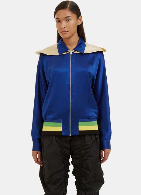 Satin Hooded Jacket