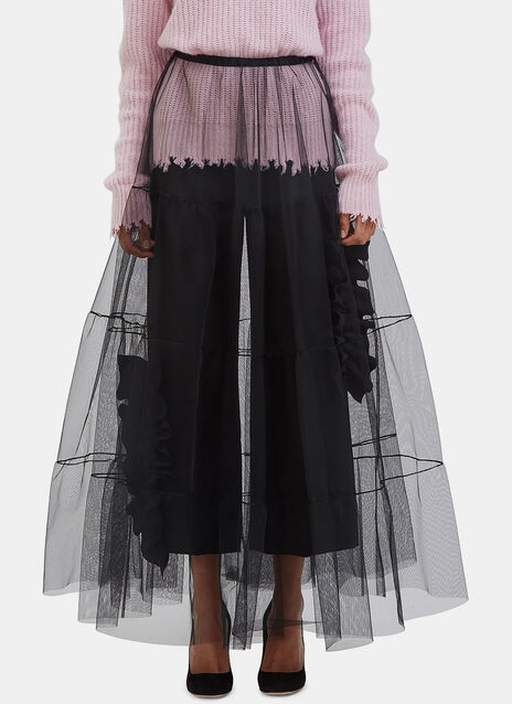 Long Tiered Tulle Skirt