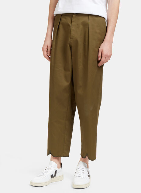 Pleat Back Wide Leg Pants