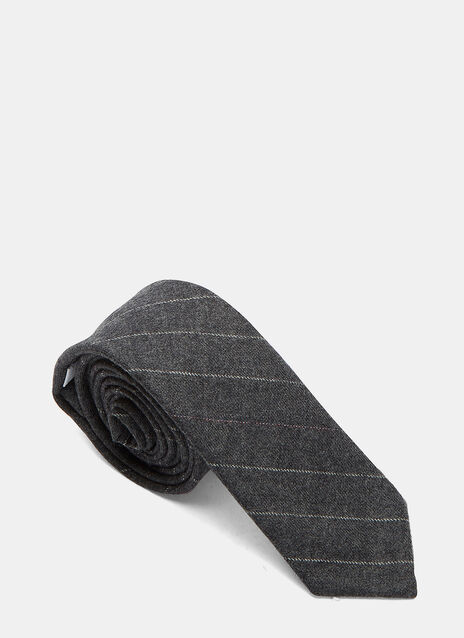 Hairline Stripe Flannel Tie