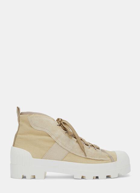 Daniel Lace-Up Canvas Boots