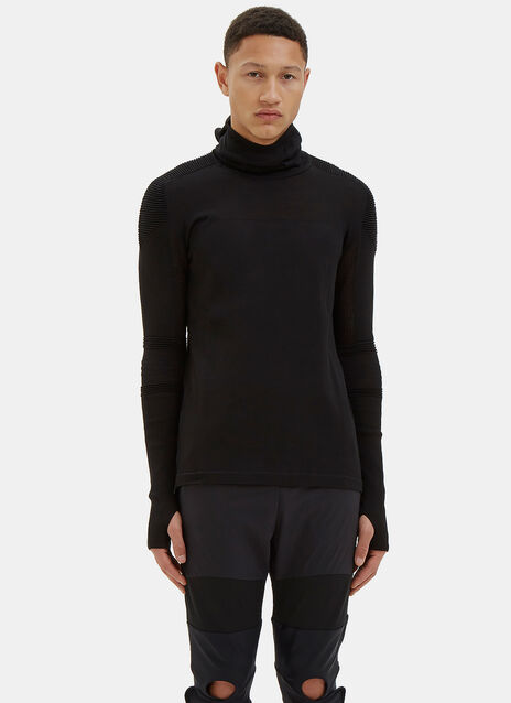 Varied Rib Hooded Sweater